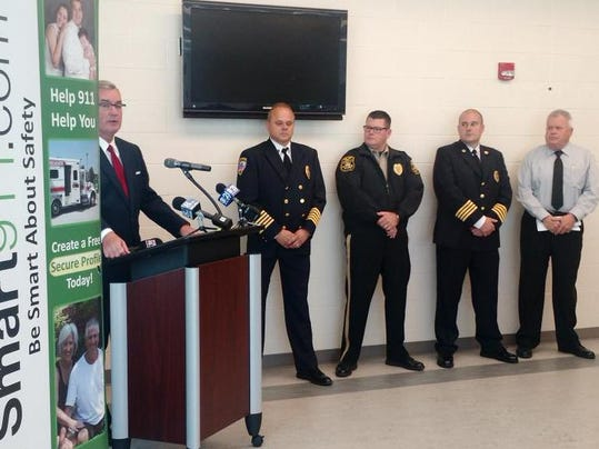 York County officials announce Smart911 at York County Control.