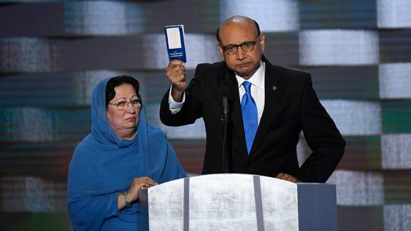 Khizr and Ghazala Khan, parents of fallen U.S. soldier