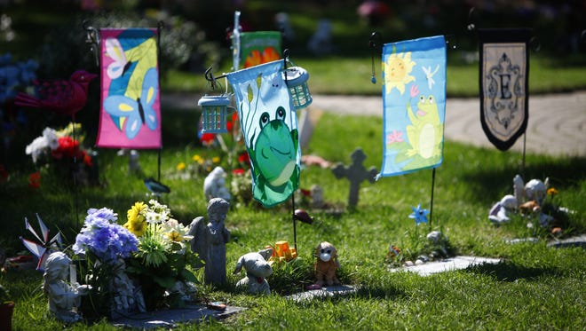 The children section at the Holy Sepulchre Cemetery.