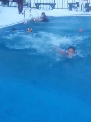 """These kids took a polar plunge. And it """"burned."""""""