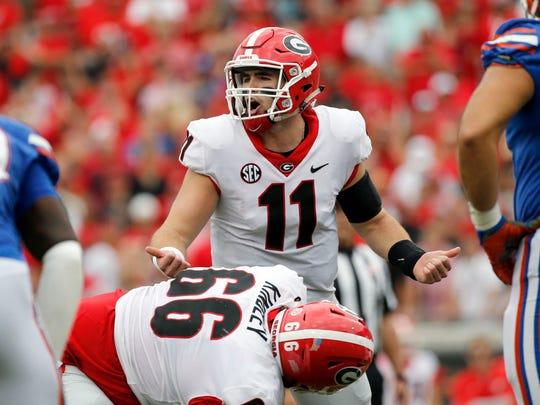 Freshman quarterback Jake Fromm and the Georgia Bulldogs