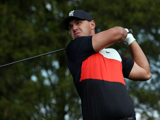 May 16, 2019; Bethpage, NY, USA; Brooks Koepka plays his shot from the 11th tee during the first round of the PGA Championship golf tournament at Bethpage State Park - Black Course. Mandatory Credit: Peter Casey-USA TODAY Sports