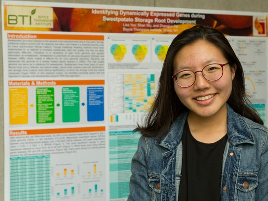 Lisa Yoo, of Cayuga Heights, a rising senior at Ithaca High School, is one of seven high school students who had paid research internships this summer at the Boyce Thompson Institute.