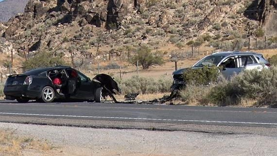 A head-on crash in Lucerne Valley left two people dead and one person severely injured on Friday, July 3, 2020.
