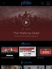 A screen shot of the new subscription streaming TV