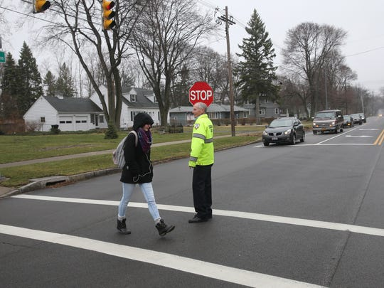 Dave Kasanov is the crossing guard at the intersection