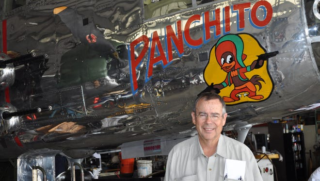 Pilot Larry Kelley with his World War II era B-25 Bomber called Panchito. He will offer rides at Wings & Wheels on Saturday, Oct. 4.