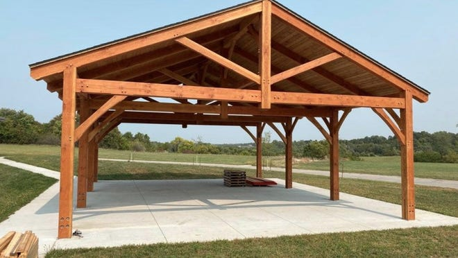 A photo showing an example of what the donated Timbercraft pavilion at Evans Park in Tecumseh will look like after installation was included in the Tecumseh City Council's meeting information.