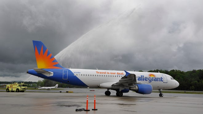 Allegiant Air plans to add twice-weekly flights from the Asheville Regional Airport to Denver starting later this year, the company said this week.