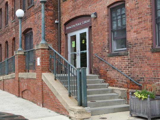 The facade of Irvington's library stood in for the Ardsley-on-Hudson police department.