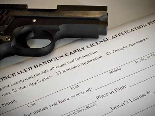 The concealed carry permit process begins with the applicant finding a certified instructor. The state requires that applicants completesix hours of classroom instruction and two more hours of shooting at a range.