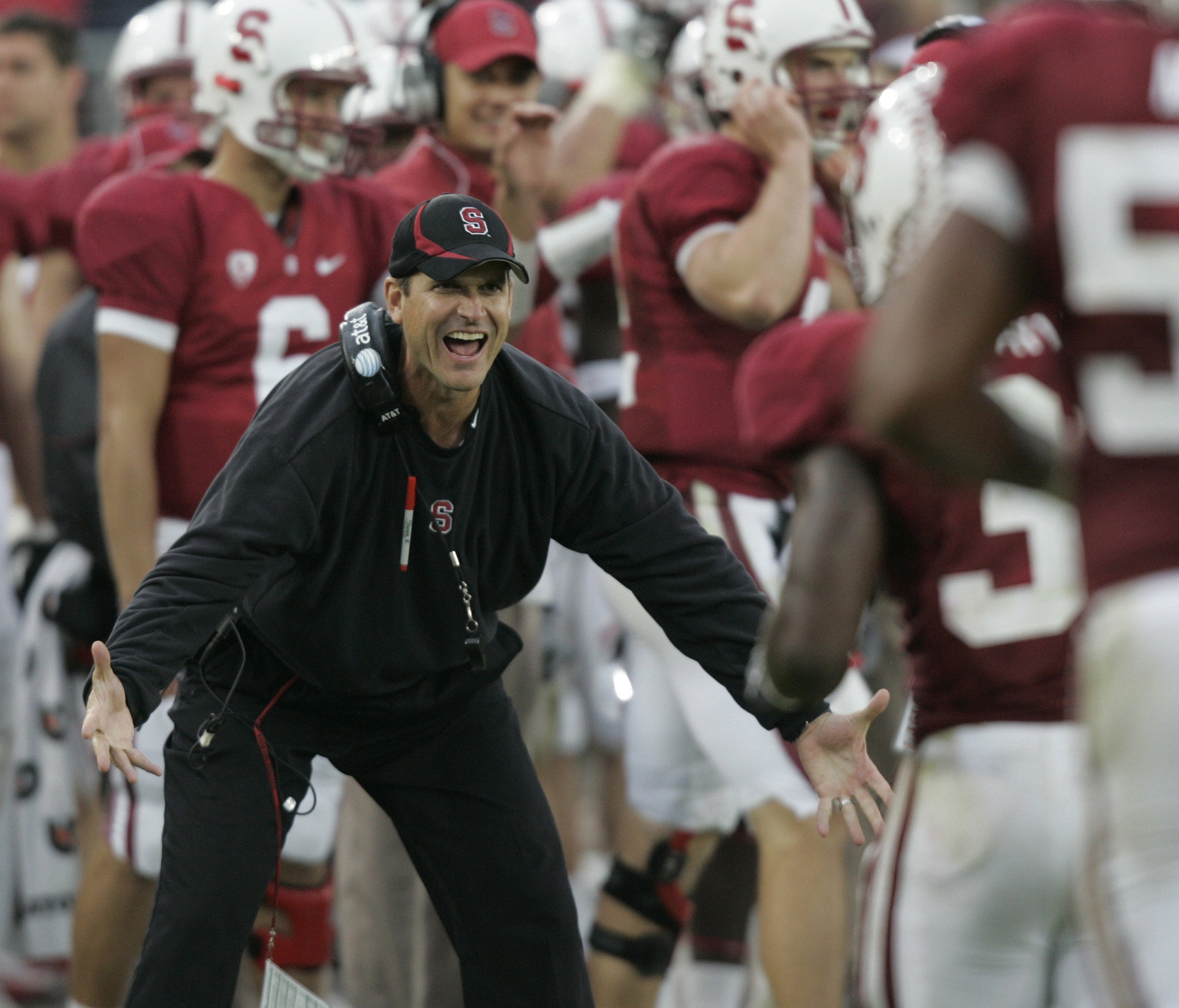 Jim Harbaugh A Non Stop Recruiting Machine At Stanford