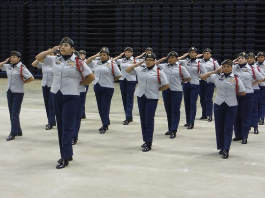 North Salem's Lady Vikings unarmed drill team placed third overall at the National High School Drill Team Championships on April 30 in Daytona Beach, Florida.