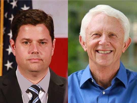 Lon Johnson and Jack Bergman are running for U.S. Congress, 1st district of Michigan.