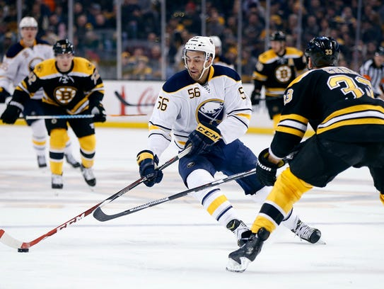 Justin Bailey has logged 17 NHL games with Sabres in