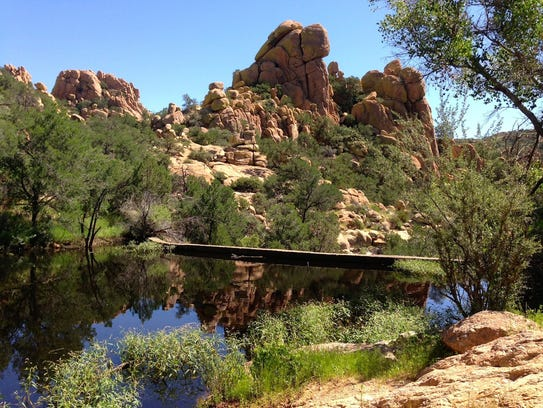 A 3-mile trail climbs into the Dragoon Mountains to