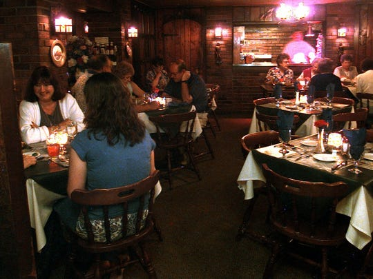 Patrons enjoy dinner at Naughton's Johnson House, 19