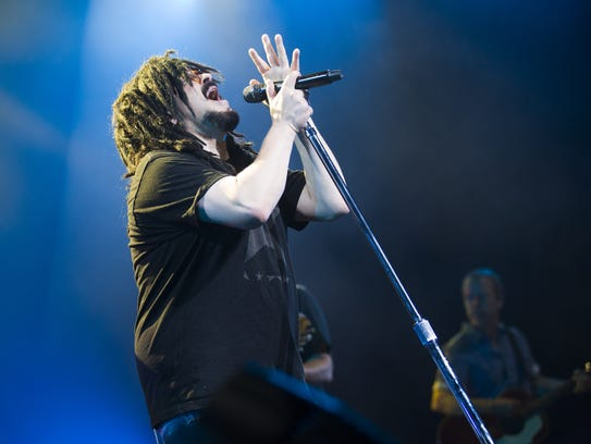 Counting Crows front man Adam Duritz performs at Ak-Chin