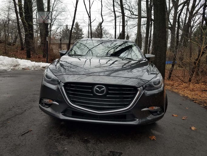 The Mazda 3's front end is both upscale and instantly