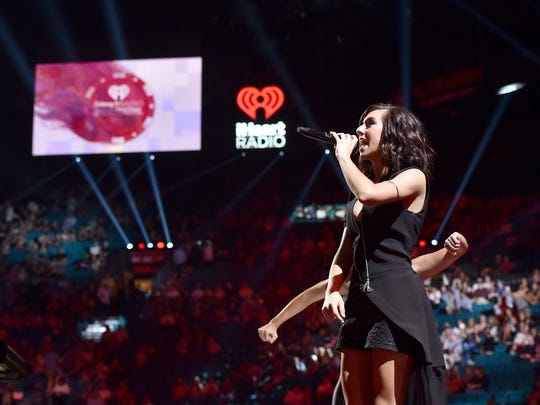 LAS VEGAS, NV - SEPTEMBER 18:  Singer Christina Grimmie performs onstage at the 2015 iHeartRadio Music Festival at MGM Grand Garden Arena on September 18, 2015 in Las Vegas, Nevada.  (Photo by Kevin Winter/Getty Images for iHeartMedia)