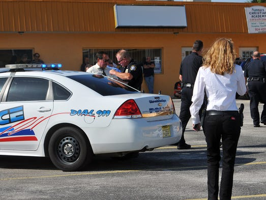 A unresponsive baby was found in a black pickup truck in Rockledge on Monday, June 16, 2014.