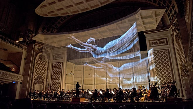 The CSO's Pelleas Project featured projections by James Darrah and Adam Larsen.