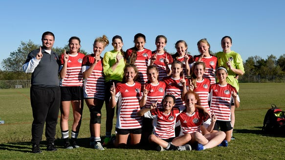 Two girls teams from the Highland Football Club (HFC)