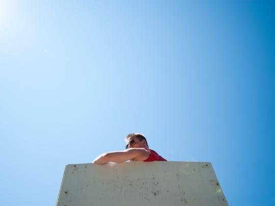 David Jakubson, head lifeguard at North Beach, at his station on Friday.