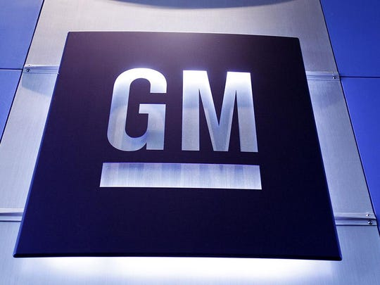 The General Motors logo at the GM Technical Center in Warren.
