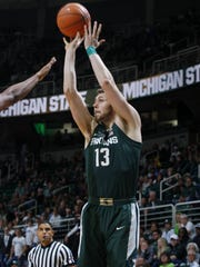 Michigan State is Ben Carter's third college, but the