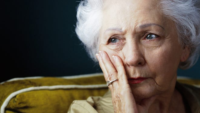 portrait of an elderly woman in a state of worry [Via MerlinFTP Drop]