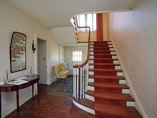 A view of the stairs at Ely Avenue home in Pelham March