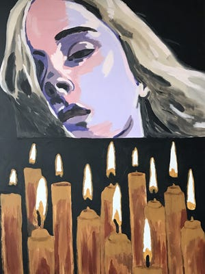 An artwork by Josh Gipson on display at the Preston Arts Center.