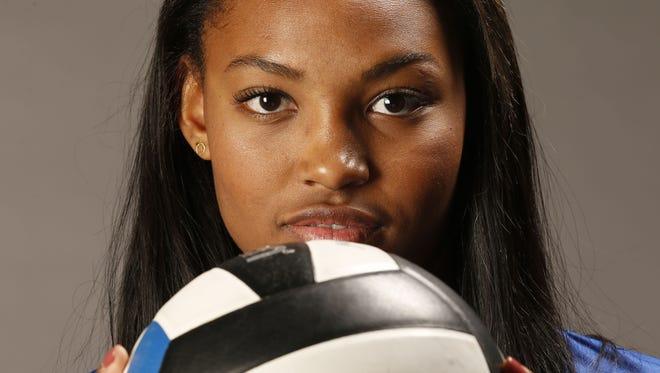Azcentral's high school volleyball big school player of the year: Khalia Lanier from Xavier.