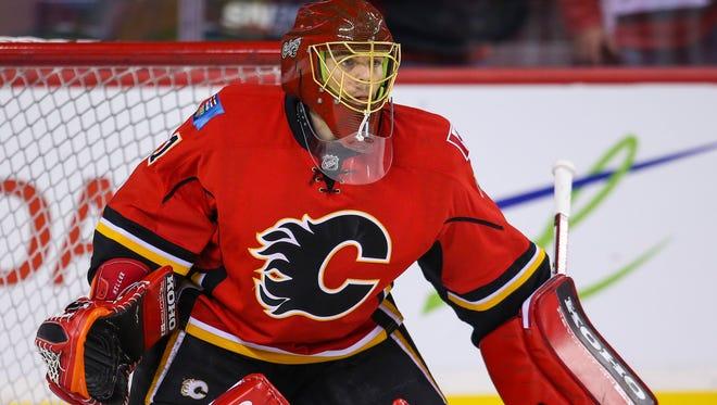 Calgary Flames goalie Jonas Hiller has a 1.63 goals-against average.