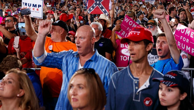 A Donald Trump rally in Tampa on Oct. 24, 2016.