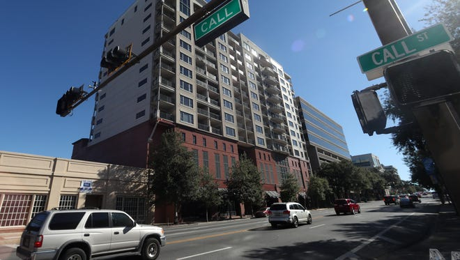 The Tennyson condo building near the intersection of Monroe and Call Streets downtown.