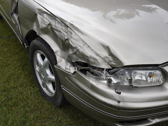 Crashed car 4