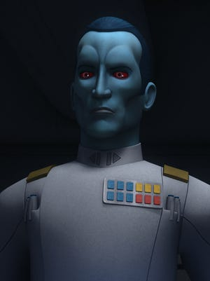 Blue-skinned Imperial leader Grand Admiral Thrawn is being reintroduced to the sci-fi saga in 'Star Wars Rebels.'