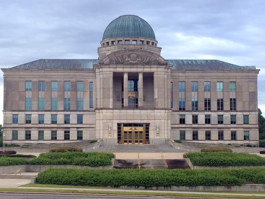 The Iowa Judicial Branch building in Des Moines