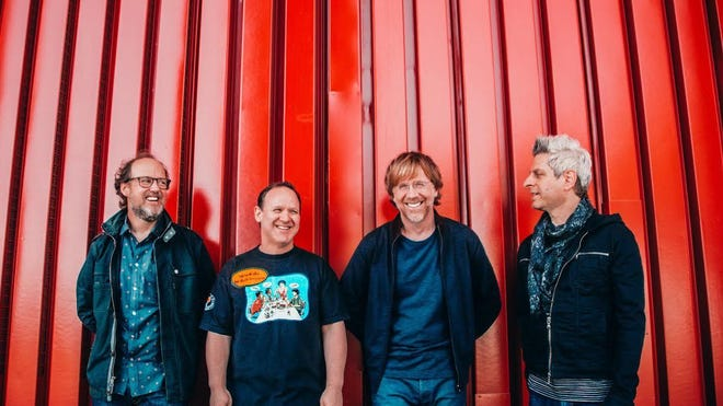 Page McConnell, Jon Fishman, Trey Anastasio and Mike Gordon of Phish.