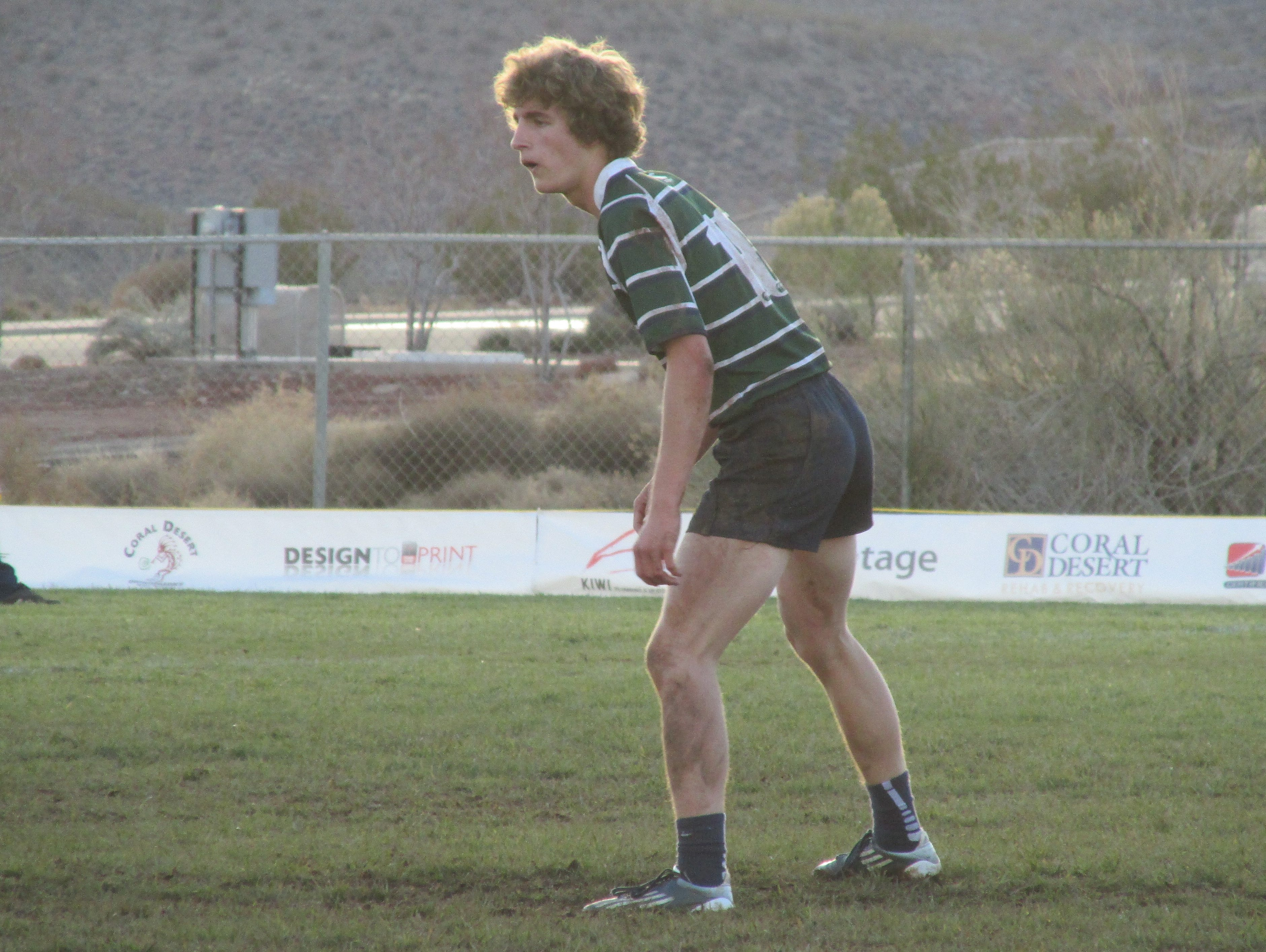 """Snow Canyon's Braden Bringhurst was given the nickname """"Honey Badger"""" from his teammates and coaches because of his resemblance to Australian rugby star Nick Cummins."""