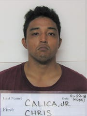 Chris Perez Calica Jr., 25 was charged with theft of property as a third-degree felony.