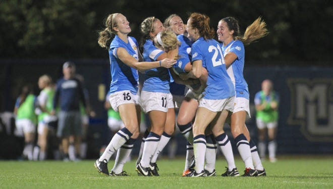 The Marquette women's soccer team defeated Cal-Poly on Friday night.