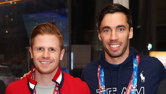 U.S. skeleton racers John Daly (left) Matt Antoine have been friends and training together for many years.