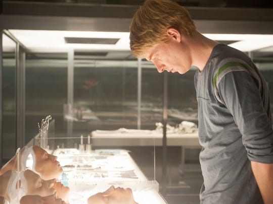 """Domhnall Gleeson appears in a scene from """"Ex Machina."""""""