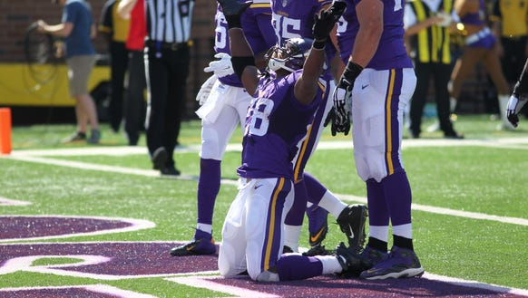 Adrian Peterson and the Vikings figure to have a good