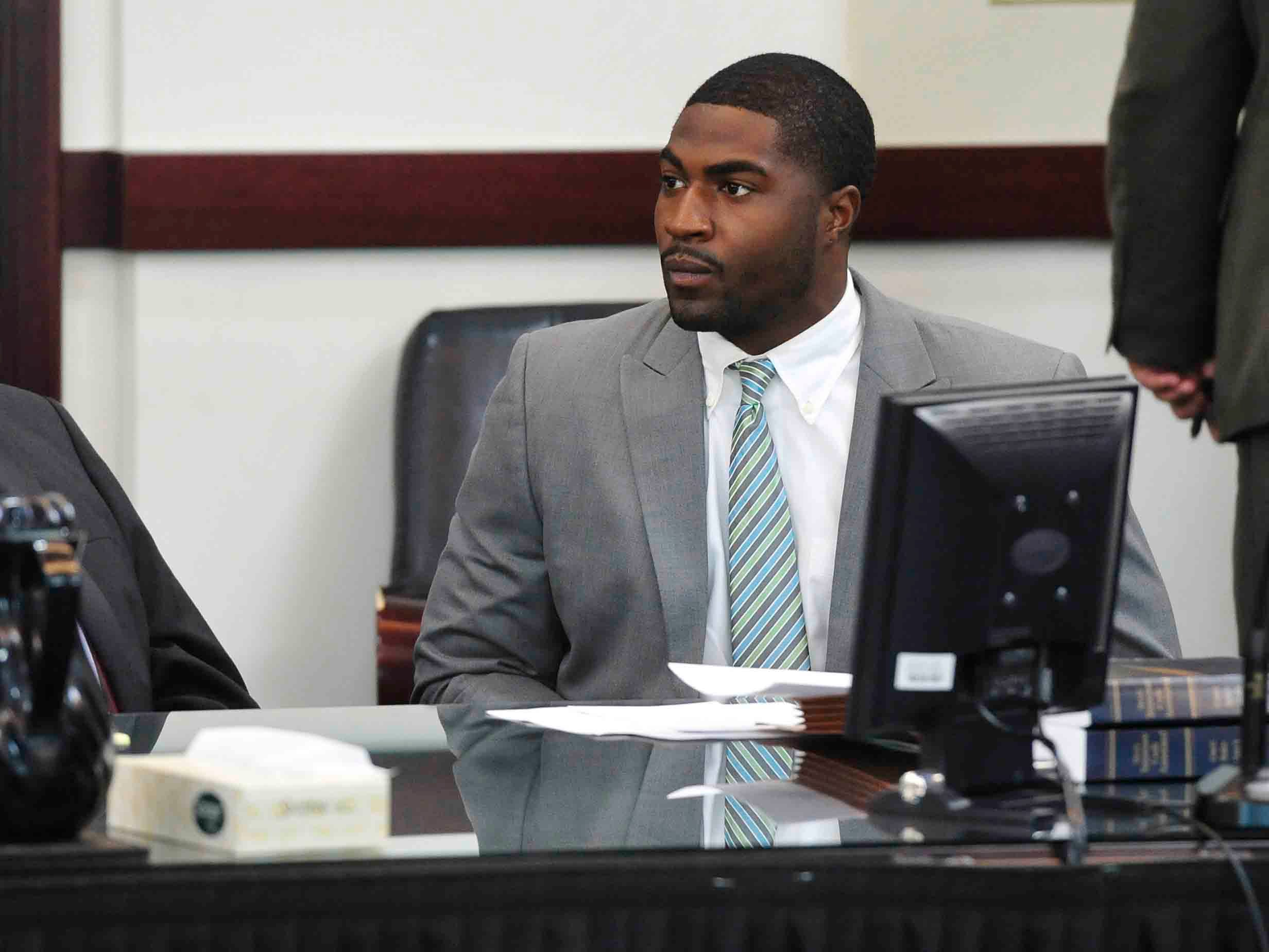 Defendant Brandon Cory Batey in court in the A. A. Birch building in downtown Nashville, Tenn. November 3, 2014. Batey's attorney Worrick Robinson injured his bicep over the weekend and is at the doctor. The injury has delayed the start of the trial.