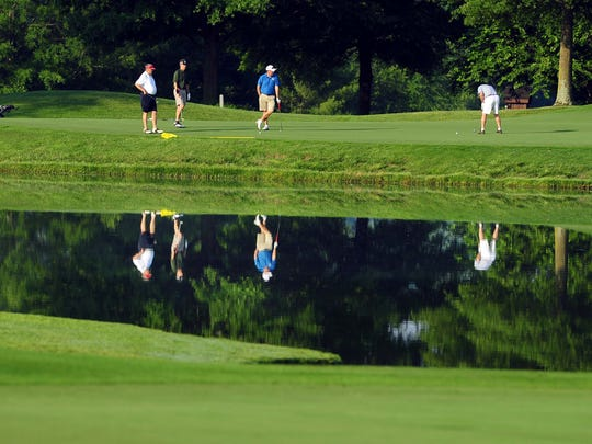 Golfers play at Franklin's Vanderbilt Legends Club, one of several hundred courses across Tennessee.