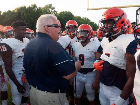 Escambia High School football coach, Mike Bennett,